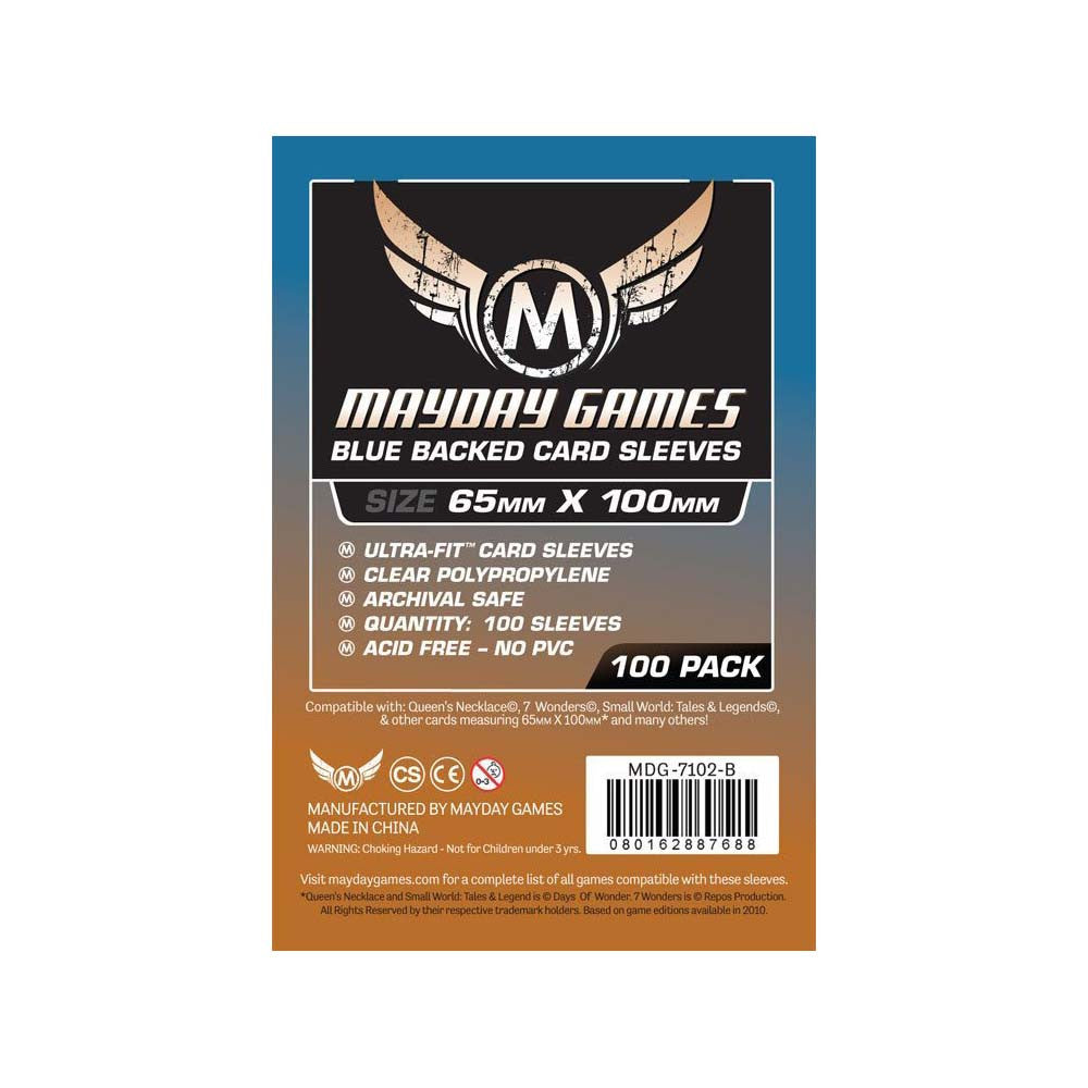 Mayday MDG-7102-B Blue Backed 7 Wonders Card Sleeves (100)