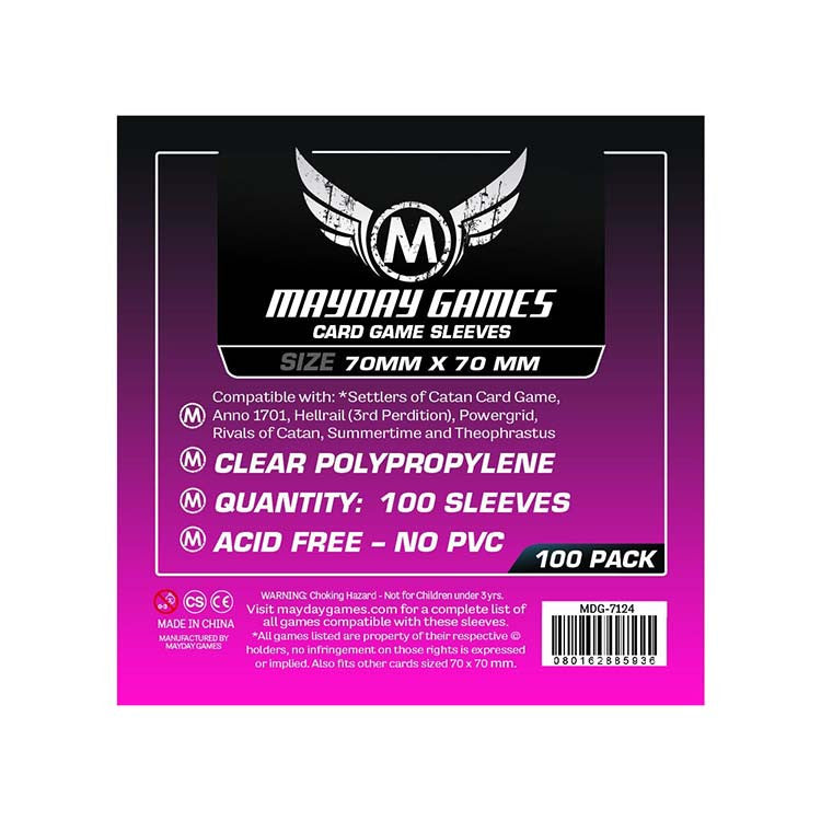 Mayday MDG-7124 Small Square Card Sleeves (100)