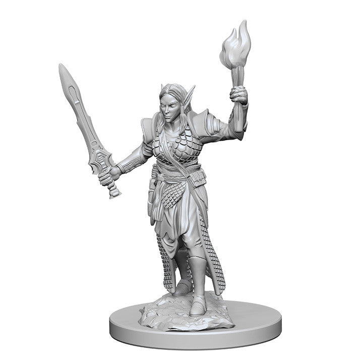 Pathfinder Deep Cuts™ Unpainted Miniatures: 72599 Elf Female Fighter