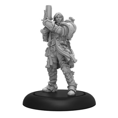 Warmachine: Mercenaries - Lieutenant Crosse Resistance Fighter (1)