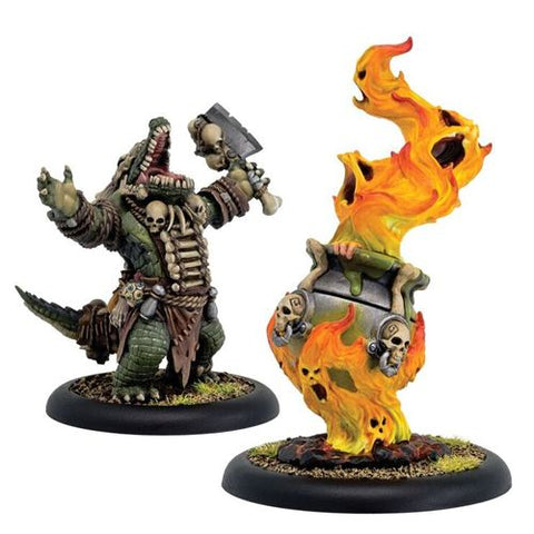 Hordes: Minions - Gatorman Boilmaster and Spirit Cauldron (2)