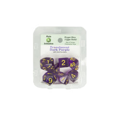Role 4 Initiative 50114 Translucent Dark Purple w/ Gold Polyhedral Dice Set (7-ct)