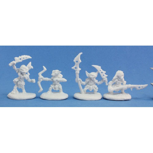 Reaper Pathfinder Bones: 89003 Pathfinder Goblin Warriors (4)