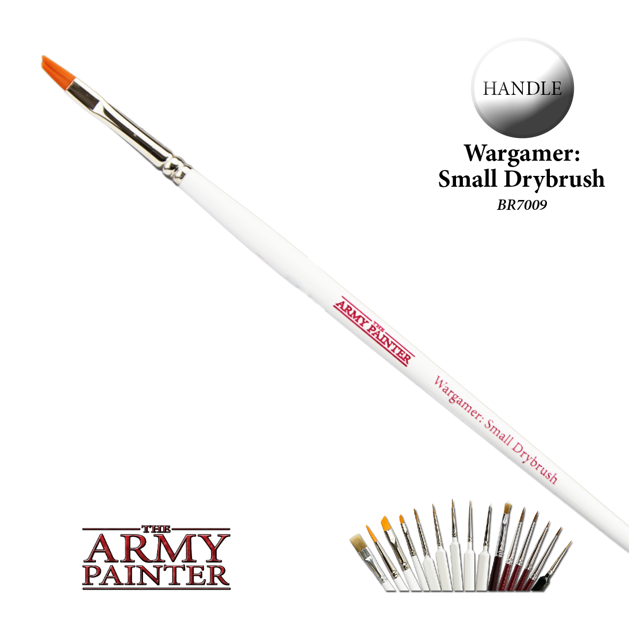 The Army Painter Wargamer Brush Series: Small Drybrush