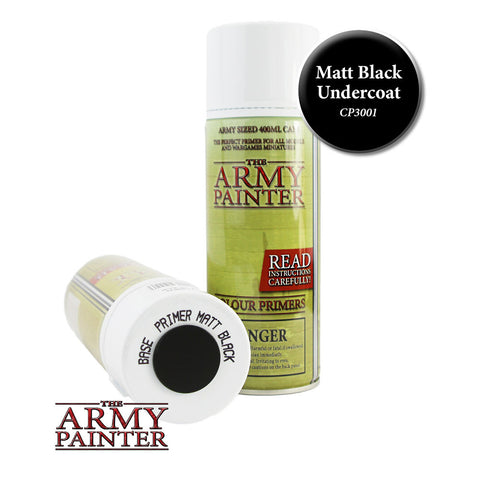 The Army Painter Colour Primer: Matt Black (Spray)