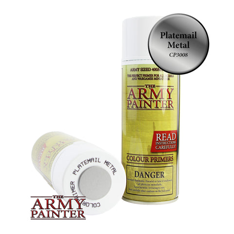 The Army Painter Colour Primer: Plate Mail Metal (Spray)