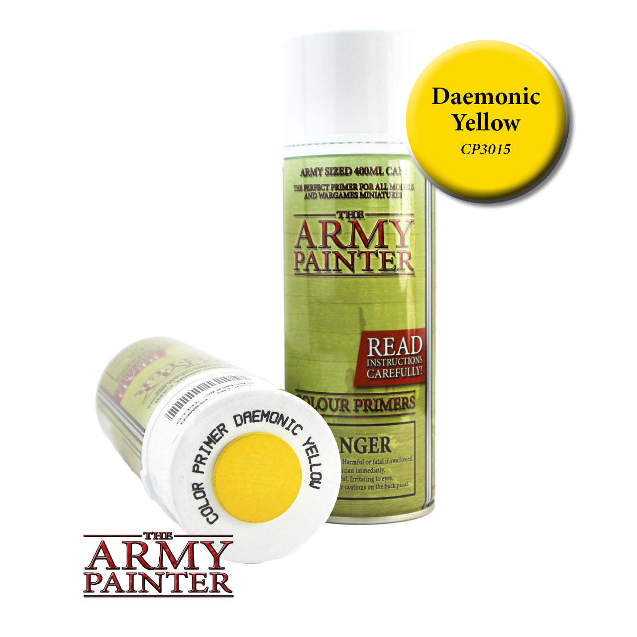 The Army Painter Colour Primer: Daemonic Yellow (Spray)