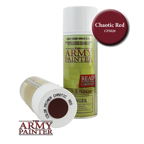 The Army Painter Colour Primer: Chaotic Red (Spray)
