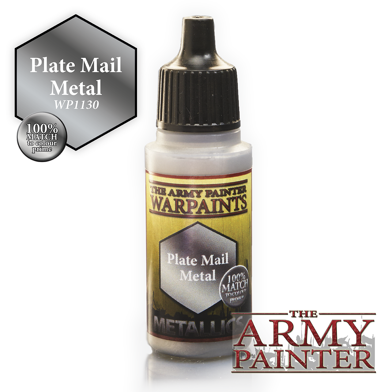 The Army Painter Warpaints Metallics: Plate Mail Metal (18ml)
