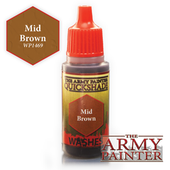 The Army Painter Warpaints Washes: Mid Brown Quickshade (18ml)