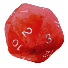 "Jumbo 10"" Plush D20 Red w/ White Numbering"