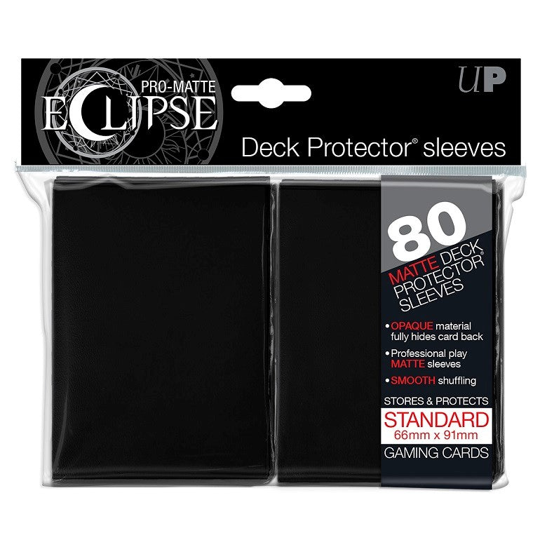 Ultra Pro Pro-Matte Eclipse Standard Deck Protector Sleeves Black (80)
