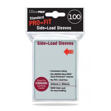 Ultra Pro Pro-Fit Standard Deck Protector Sleeves Side Load Clear (100)