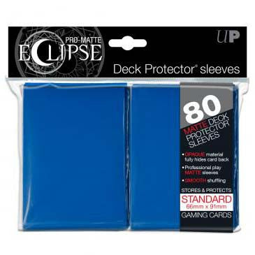 Ultra Pro Pro-Matte Eclipse Standard Deck Protector Sleeves Blue (80)
