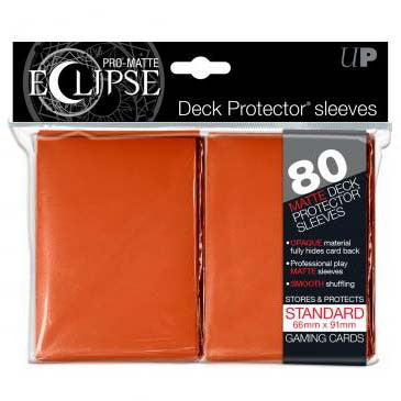 Ultra Pro Pro-Matte Eclipse Standard Deck Protector Sleeves Orange (80)