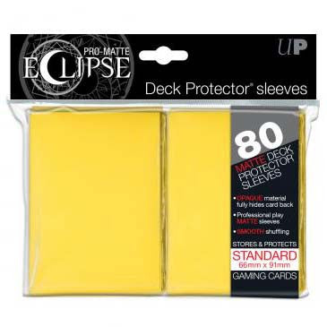Ultra Pro Pro-Matte Eclipse Standard Deck Protector Sleeves Yellow (80)