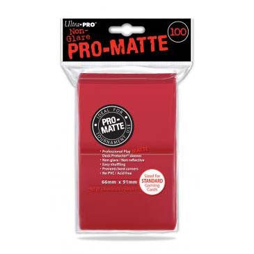 Ultra Pro Pro-Matte Standard Deck Protector Sleeves Red (100)