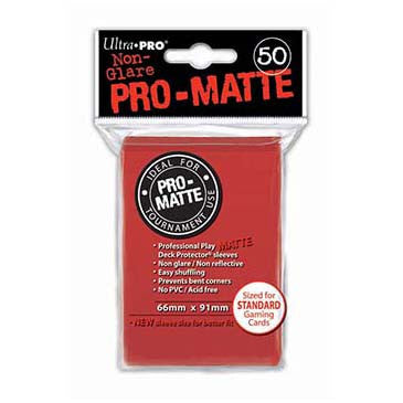 Ultra Pro Pro-Matte Standard Deck Protector Sleeves Red (50)