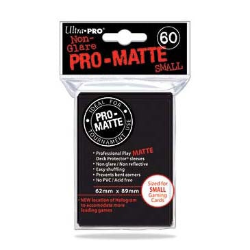 Ultra Pro Pro-Matte Small Deck Protector Sleeves Black (60)