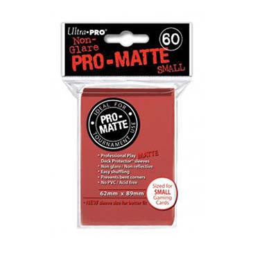 Ultra Pro Pro-Matte Small Deck Protector Sleeves Red (60)