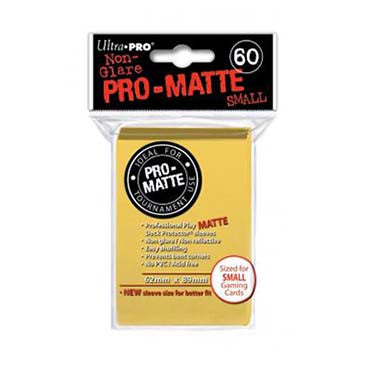 Ultra Pro Pro-Matte Small Deck Protector Sleeves Yellow (60)