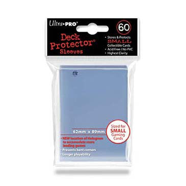 Ultra Pro Small Deck Protector Sleeves Clear (60)