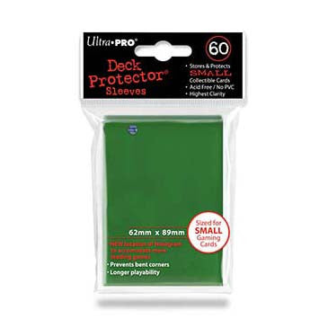 Ultra Pro Small Deck Protector Sleeves Green (60)