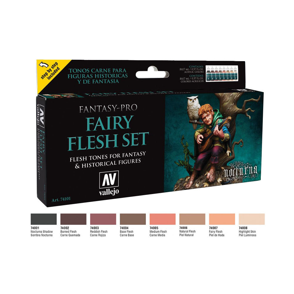 Vallejo 74.101 Fantasy Pro: Fairy Flesh Set