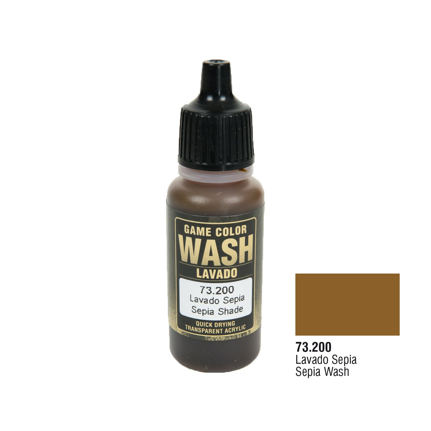Vallejo 73.200 Game Color Wash: Sepia Wash, 17ml