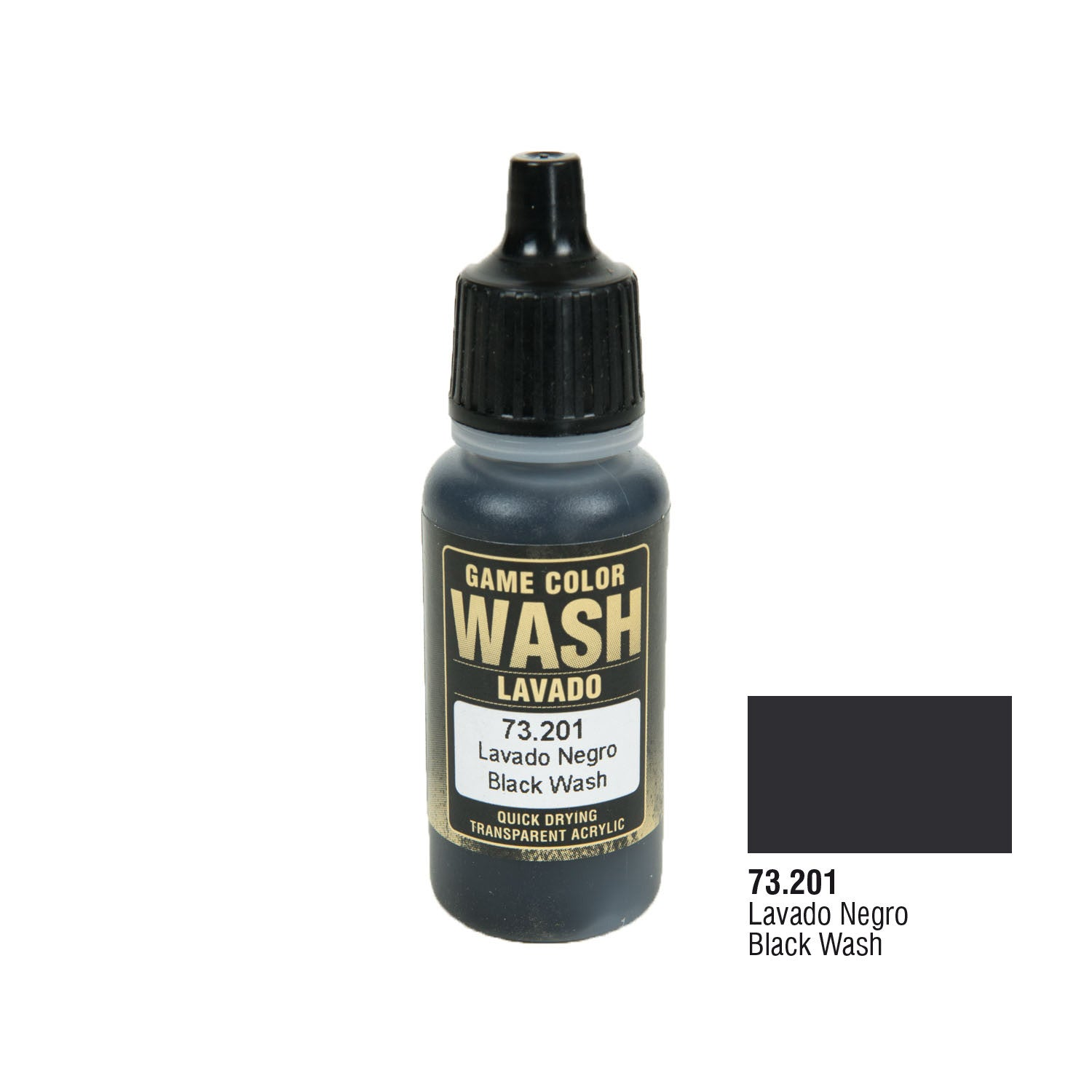 Vallejo 73.201 Game Color Wash: Black Wash, 17ml