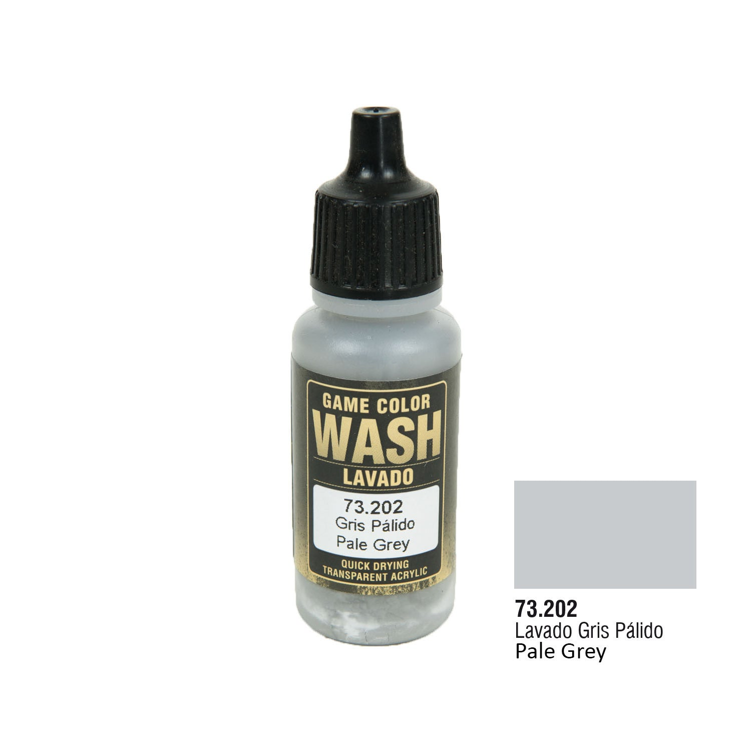 Vallejo 73.202 Game Color Wash: Pale Grey Wash, 17ml