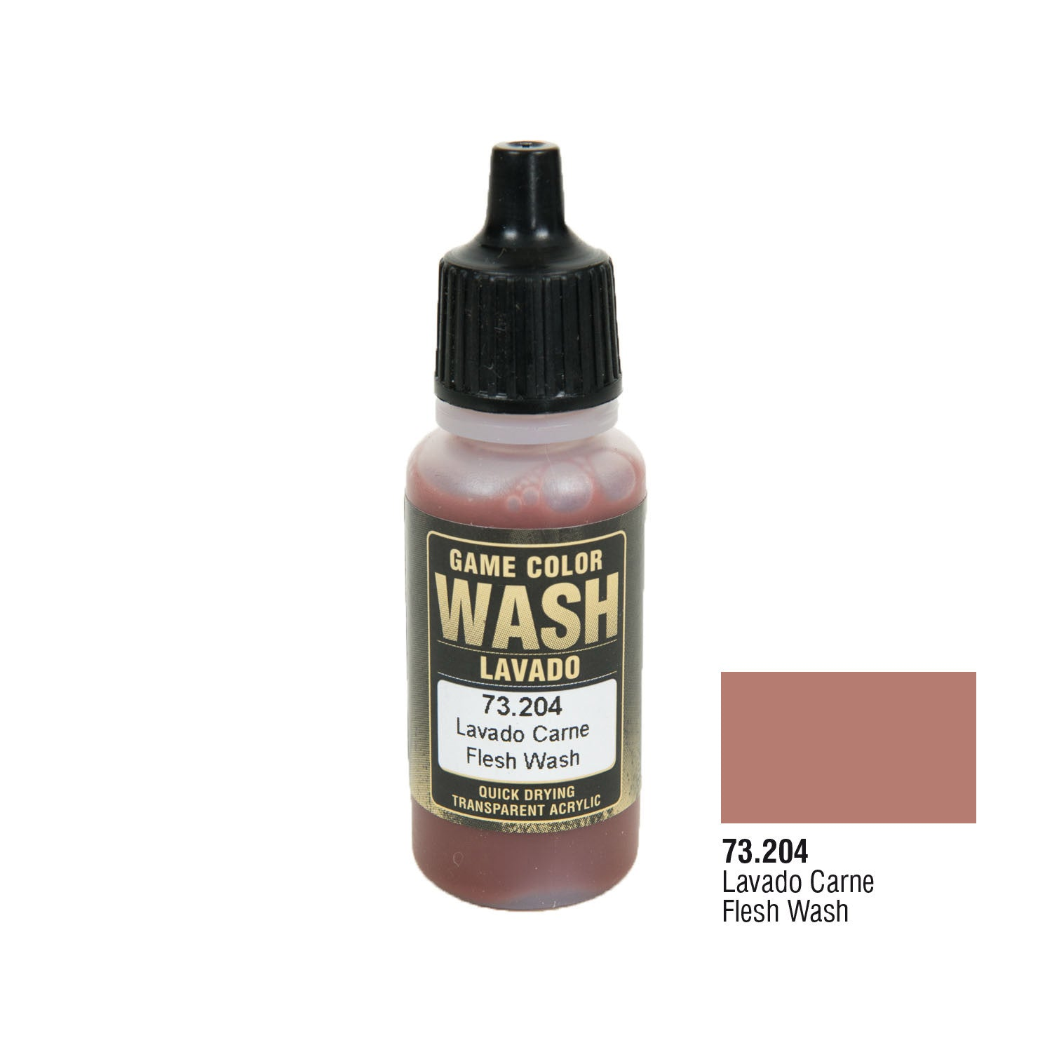 Vallejo 73.204 Game Color Wash: Flesh Wash, 17ml