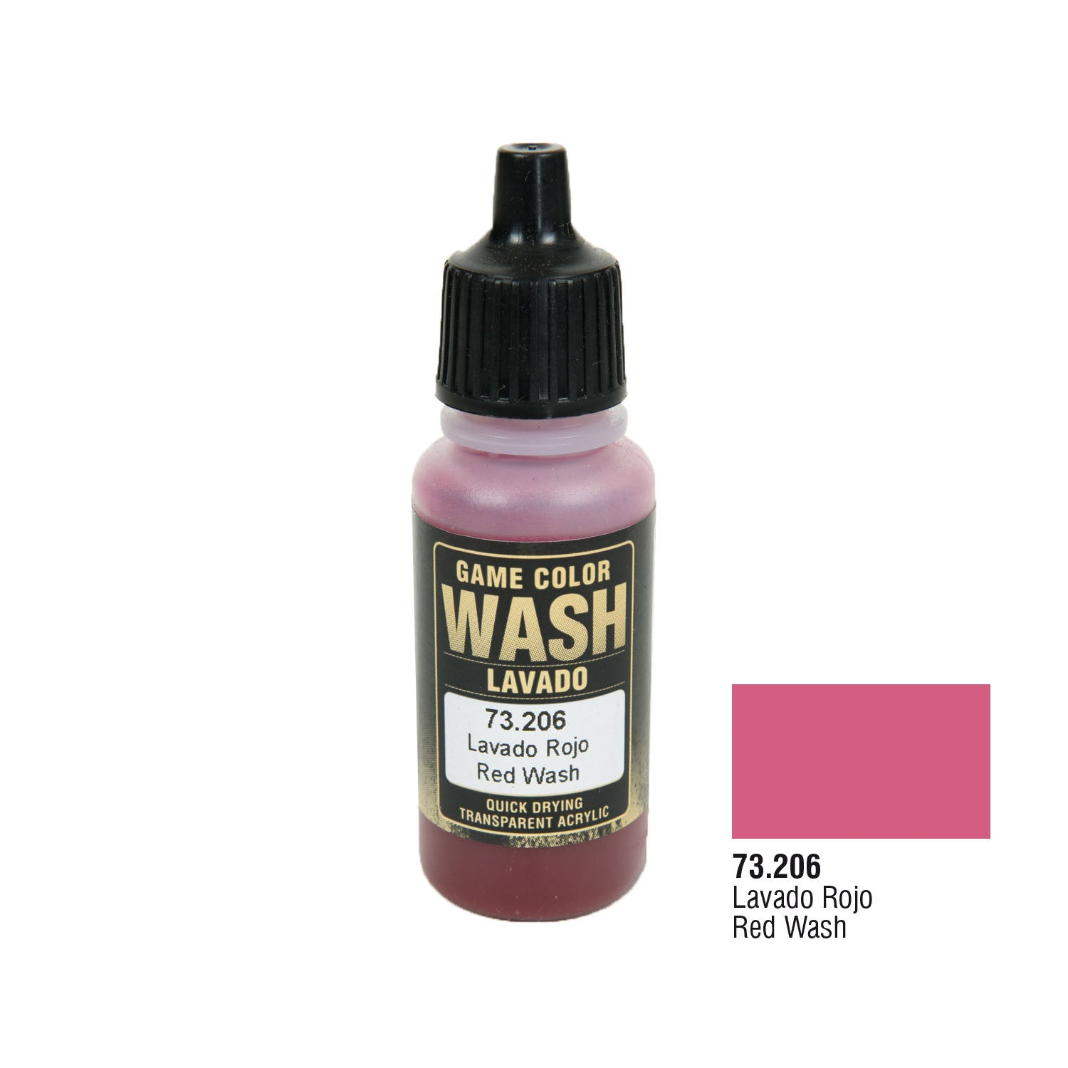 Vallejo 73.206 Game Color Wash: Red Wash, 17ml