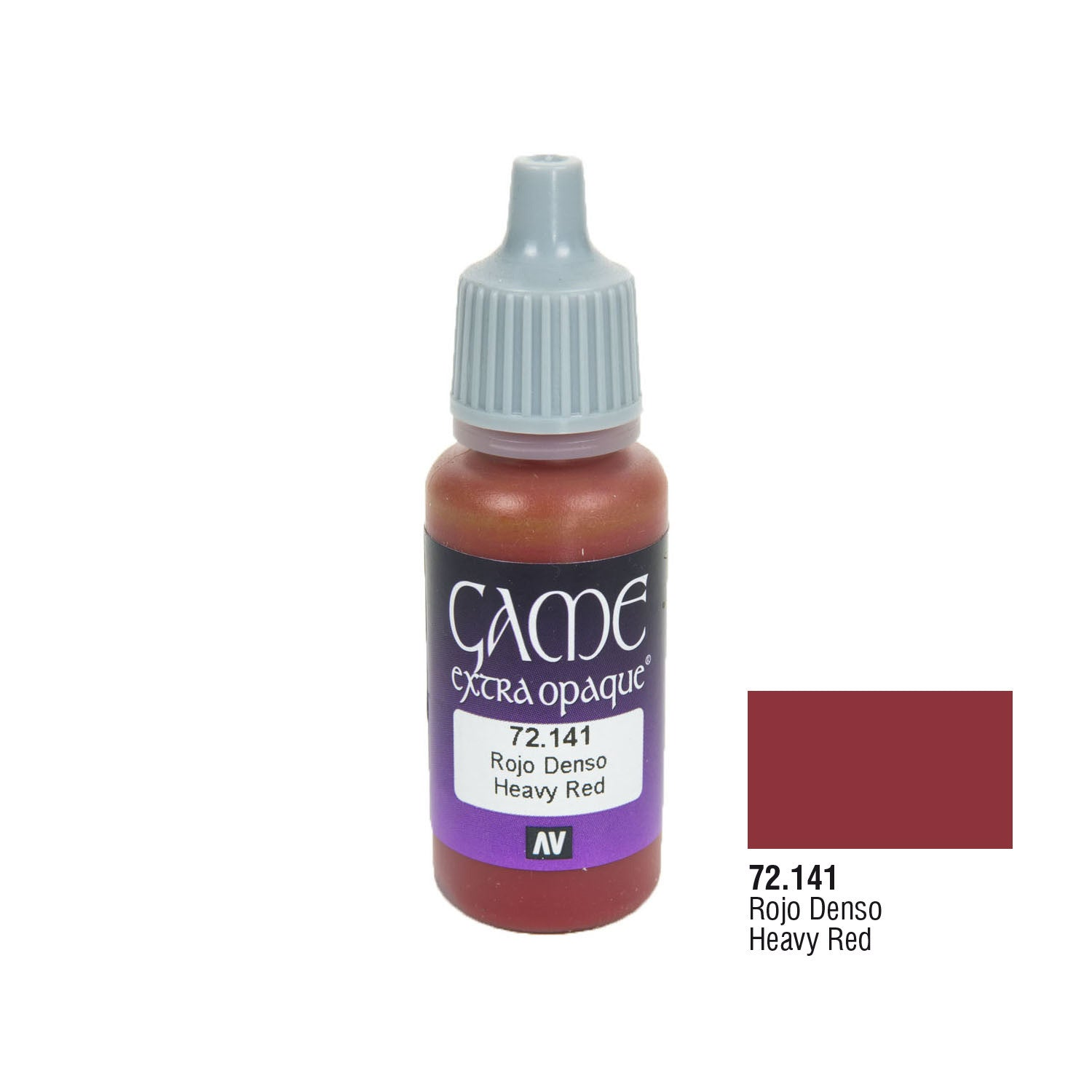 Vallejo 72.141 Game Extra Opaque: Heavy Red, 17ml