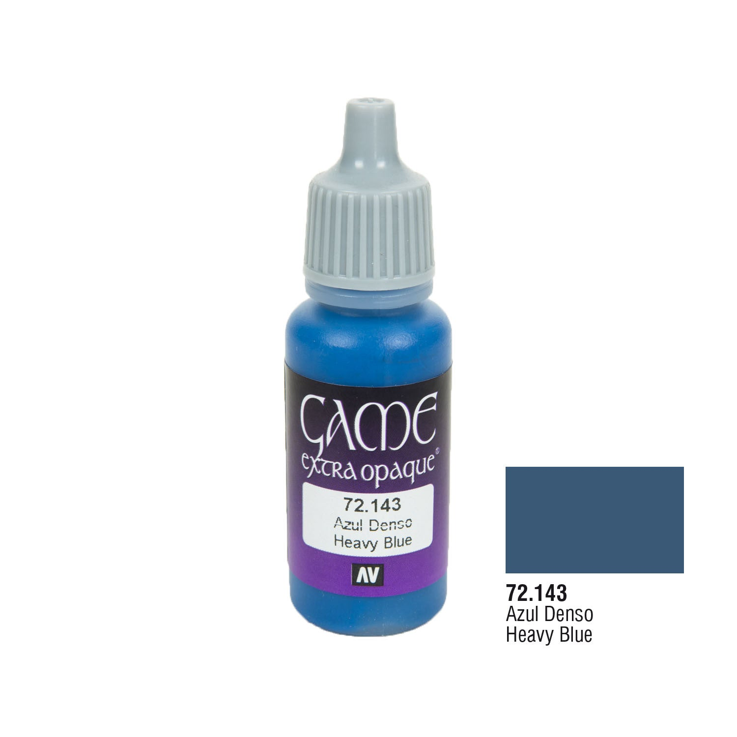 Vallejo 72.143 Game Extra Opaque: Heavy Blue, 17ml