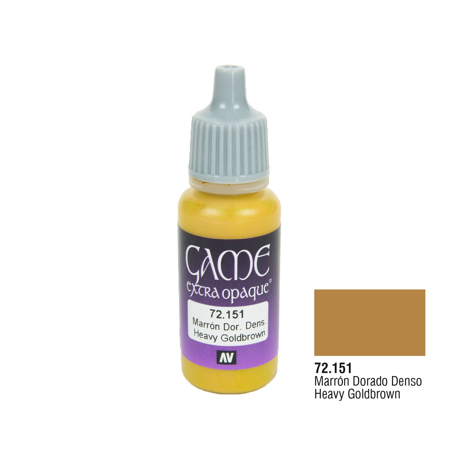 Vallejo 72.151 Game Extra Opaque: Heavy Goldbrown, 17ml