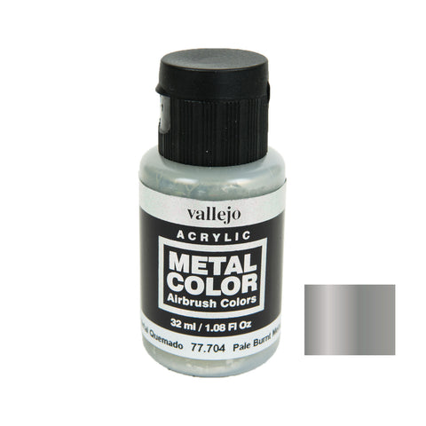 Vallejo 77.704 Metal Color: Pale Burnt Metal (32 ml)