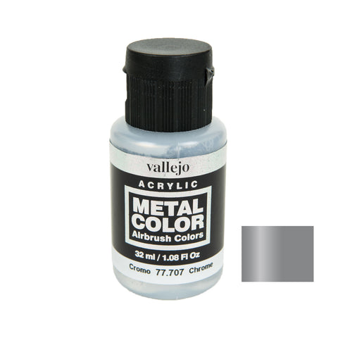 Vallejo 77.707 Metal Color: Chrome (32 ml)
