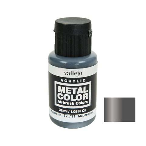 Vallejo 77.711 Metal Color: Magnesium (32 ml)