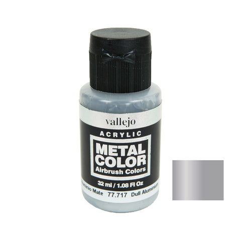 Vallejo 77.717 Metal Color: Dull Aluminium (32 ml)
