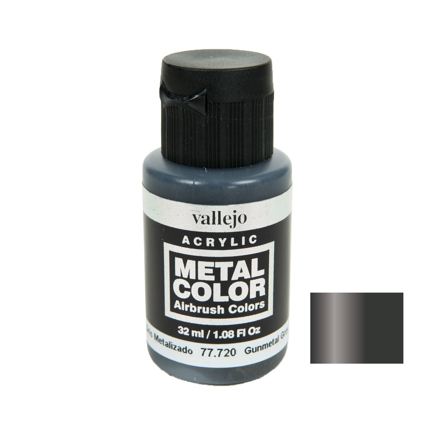Vallejo 77.720 Metal Color: Gunmetal Grey (32)