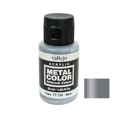 Vallejo 77.724 Metal Color: Silver (32 ml)