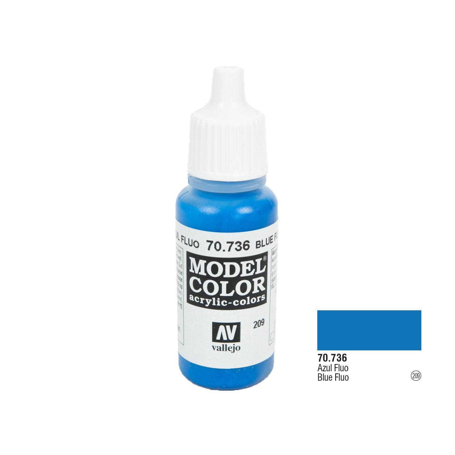 Vallejo 70.736 Model Color: Fluorescent Blue, 17ml