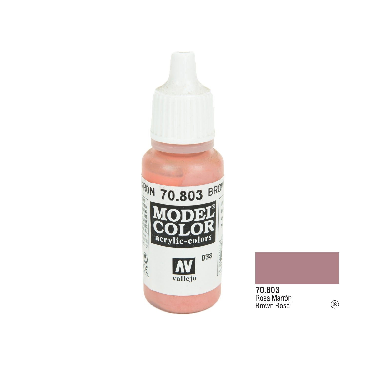 Vallejo 70.803 Model Color: Brown Rose, 17ml