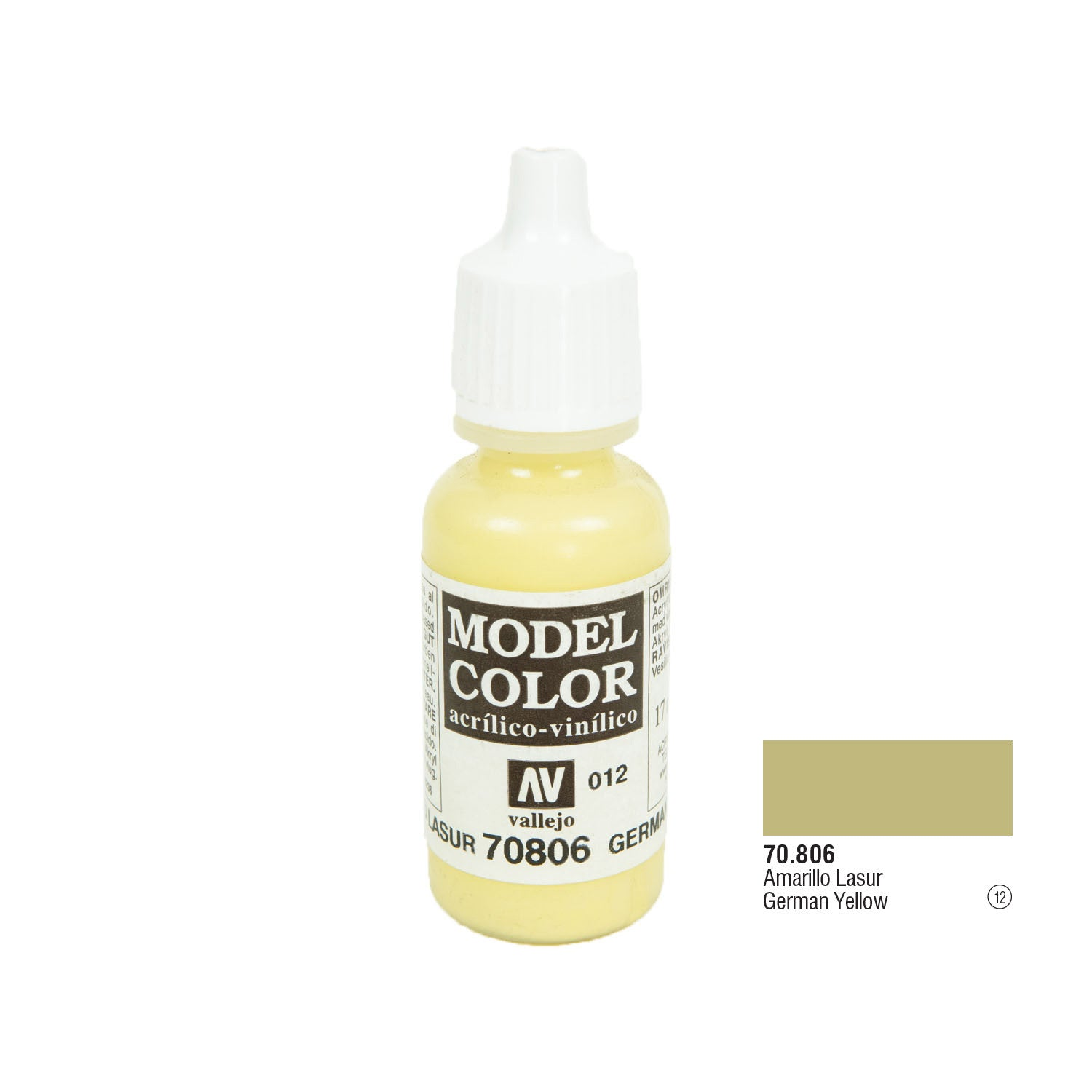 Vallejo 70.806 Model Color: German Yellow, 17ml