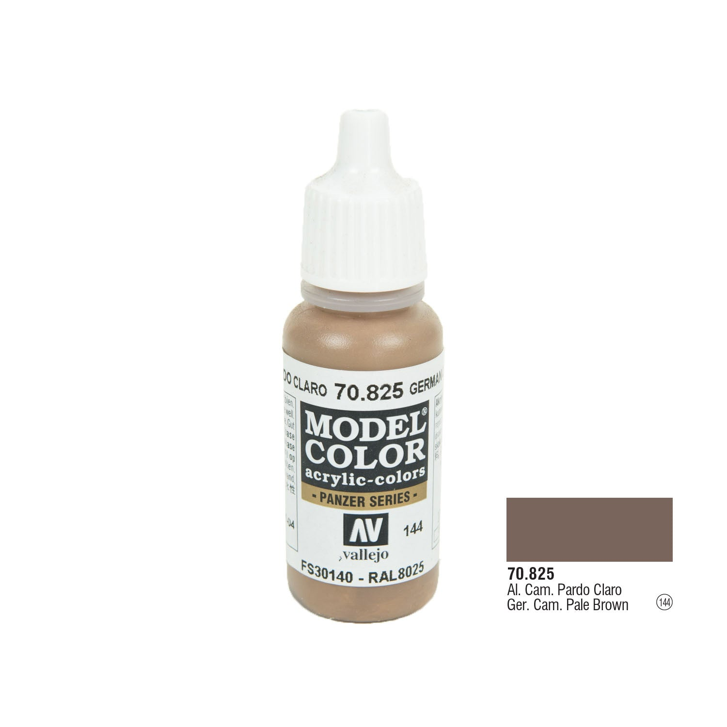 Vallejo 70.825 Model Color: German Camo Pale Brown, 17ml