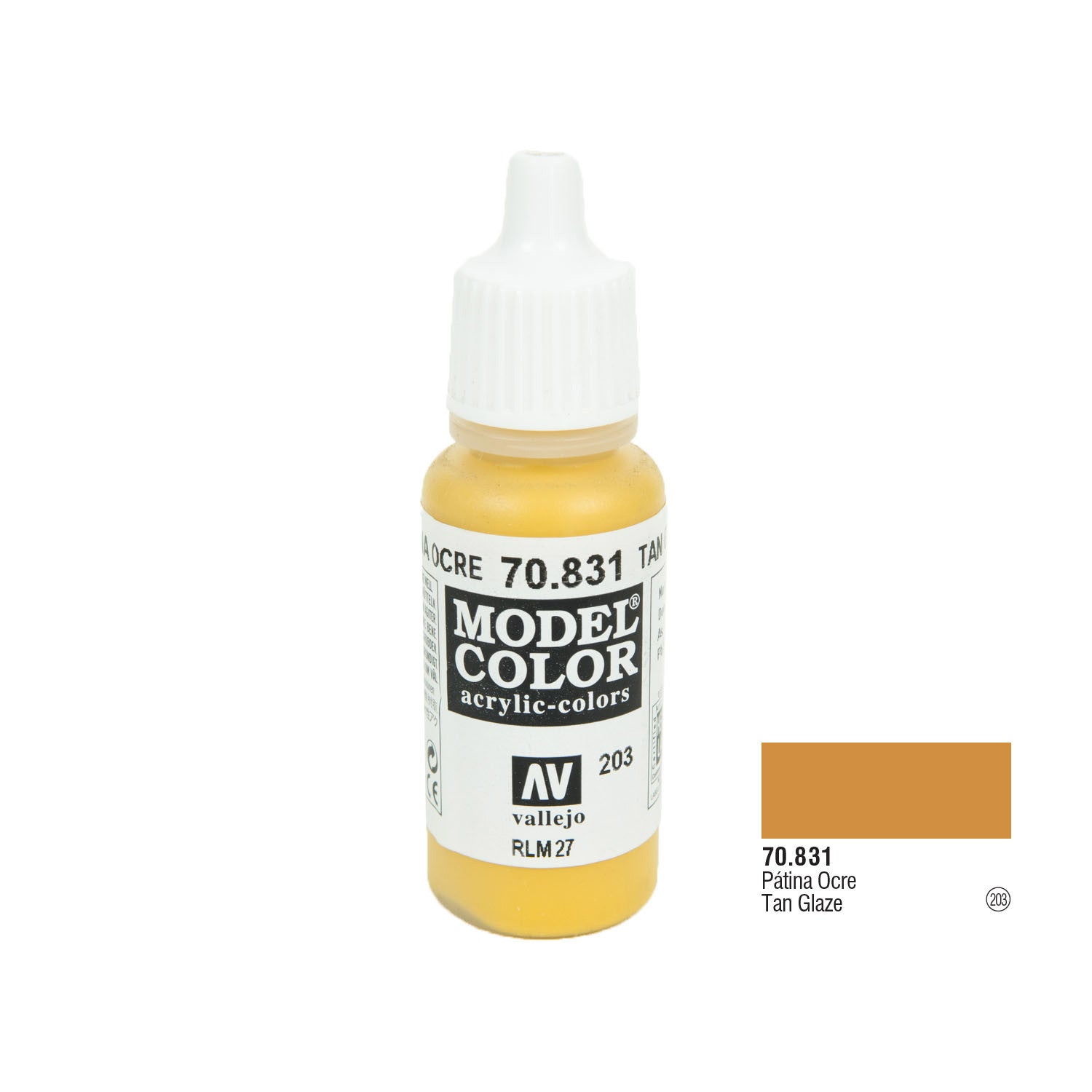 Vallejo 70.831 Model Color: Tan Glaze, 17ml