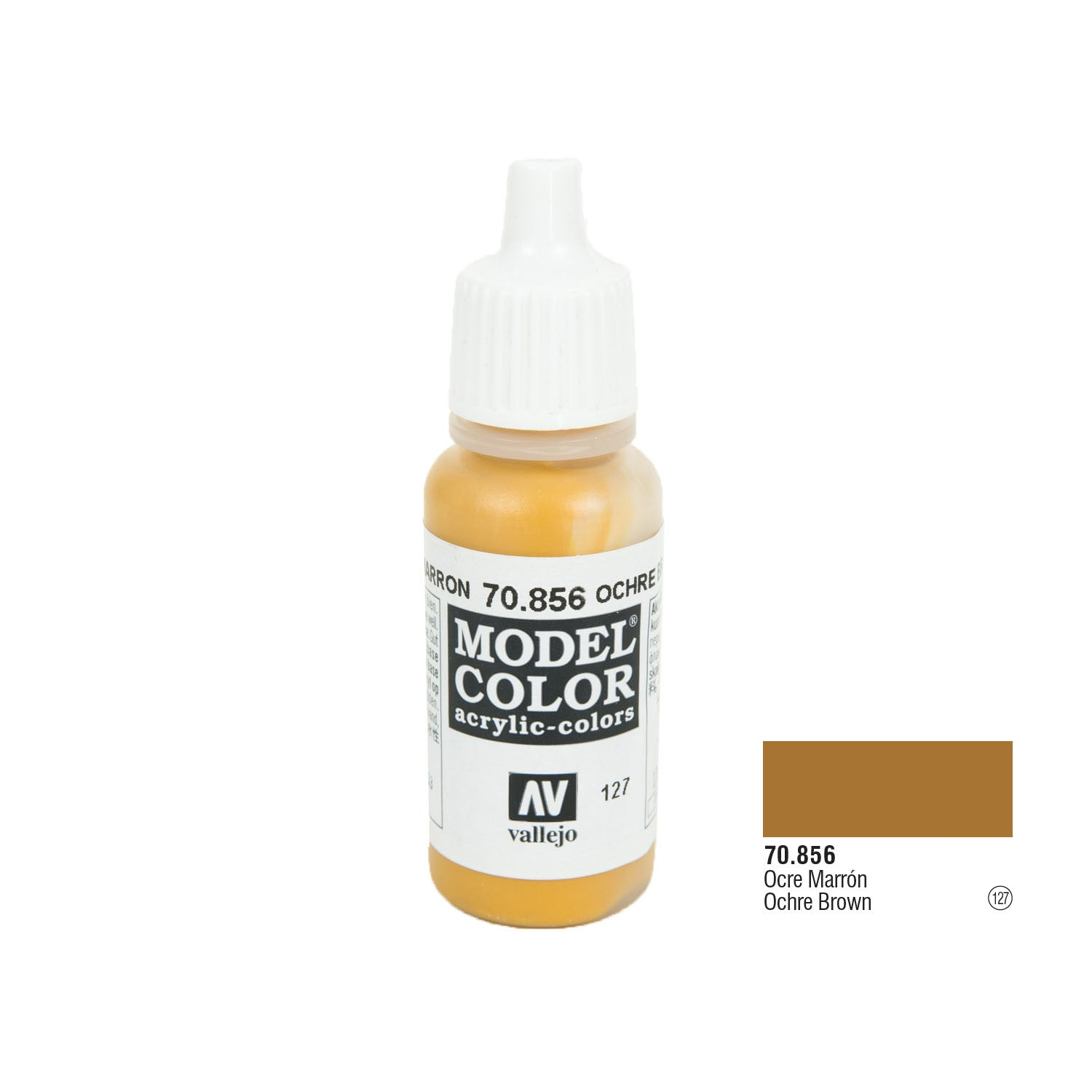 Vallejo 70.856 Model Color: Ochre Brown, 17ml