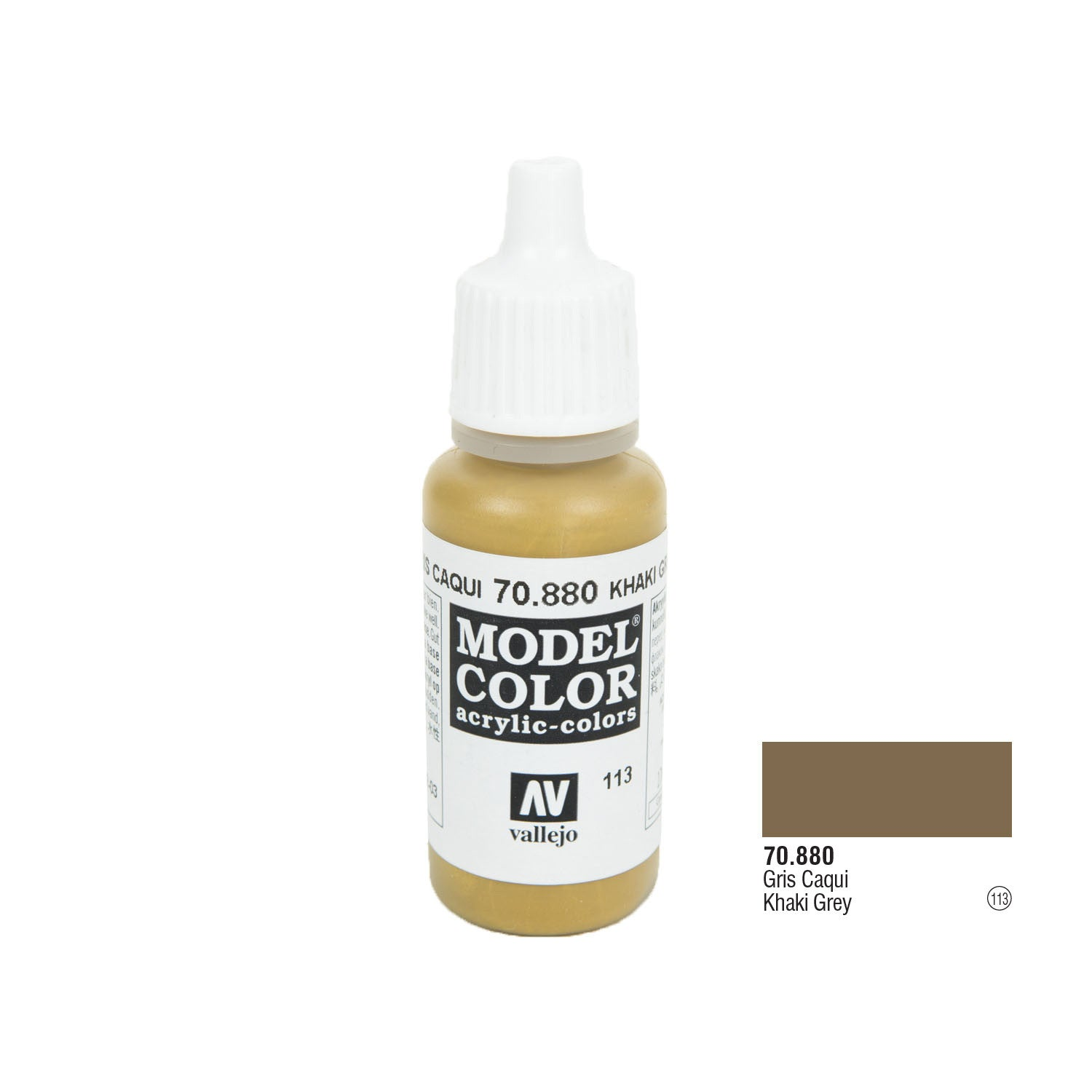 Vallejo 70.880 Model Color: Khaki Grey, 17ml