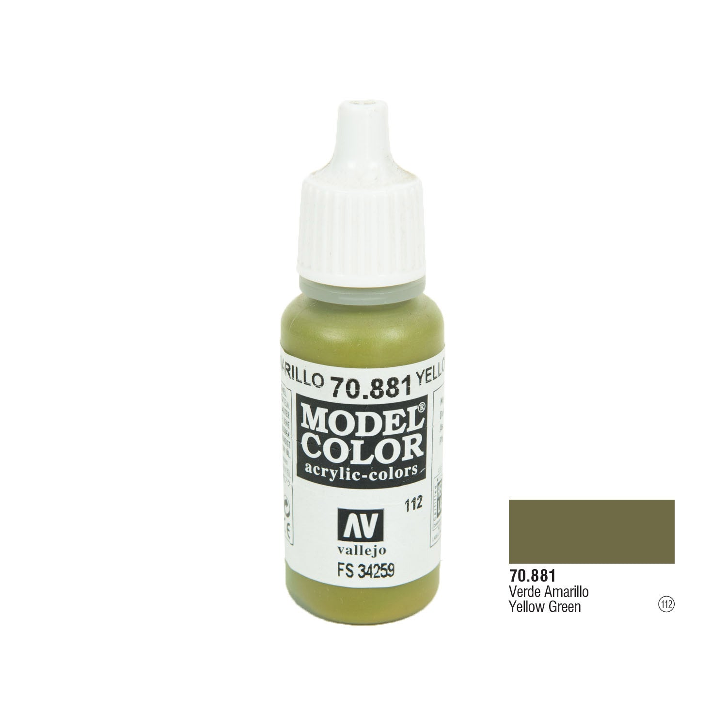 Vallejo 70.881 Model Color: Yellow Green, 17ml